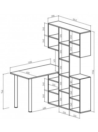 Стол-стеллаж Феликс-36