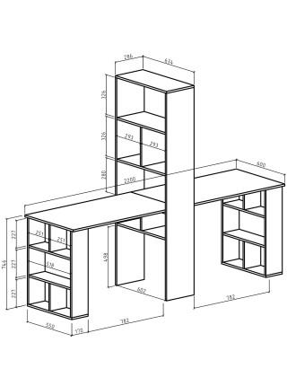 Стол-стеллаж Феликс-455