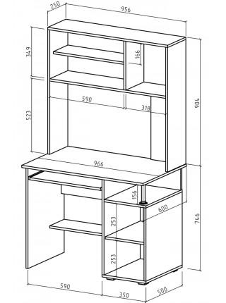 Компьютерный стол Амбер-13