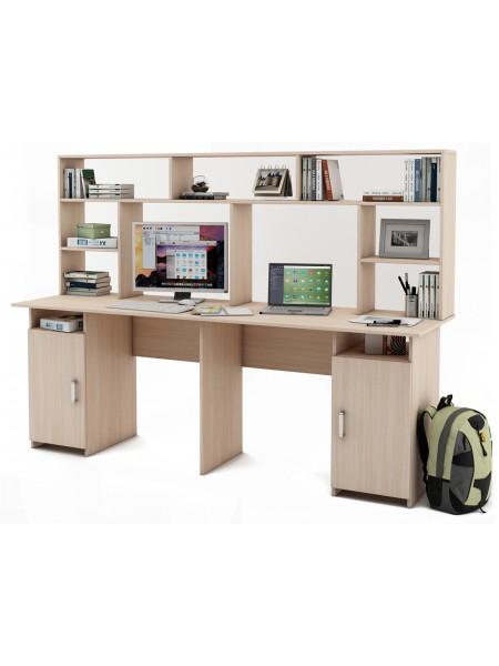Письменный стол Лайт-12 с надстройкой