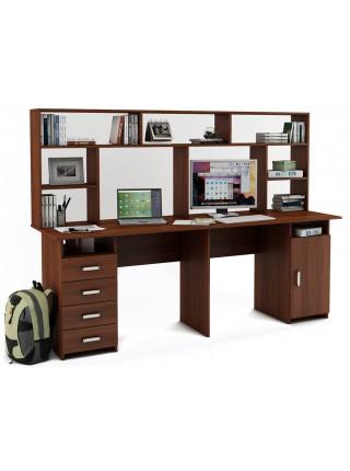 Письменный стол Лайт-14 с надстройкой