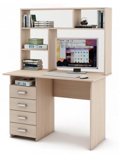 Письменный стол Лайт-4 с надстройкой