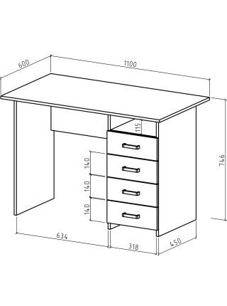 Письменный стол Лайт-5