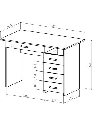 Письменный стол Лайт-5Я