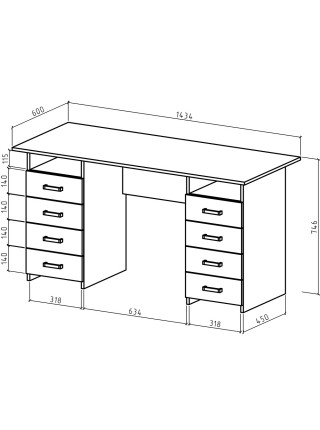 Письменный стол Лайт-9