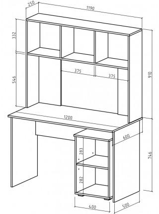 Письменный стол Марс-5