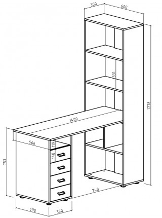 Компьютерный стол Оксфорд-1