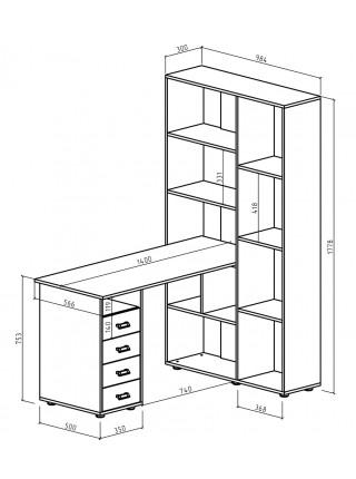 Компьютерный стол Оксфорд-2