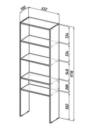 Стол-стеллаж Рикс-4545