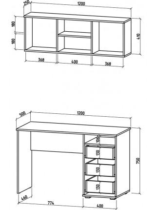 Письменный стол Тунис-7