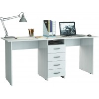 Белый письменный стол на двоих Тандем-2