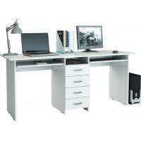 Белый стол на двоих Тандем-2П