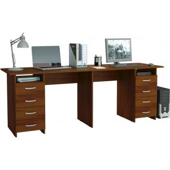Письменный стол на двоих Тандем-3 размером 2080*600*750 мм.  В нашем магазине Вы можете купить двойные столы письменные Тандем с недорогой доставкой по Москве, Московской области.
