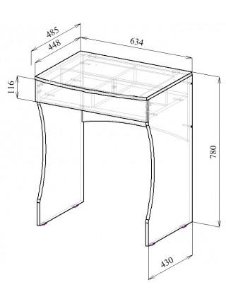 Туалетный столик Нуар-4