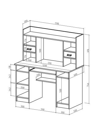 Компьютерный стол Имидж-32