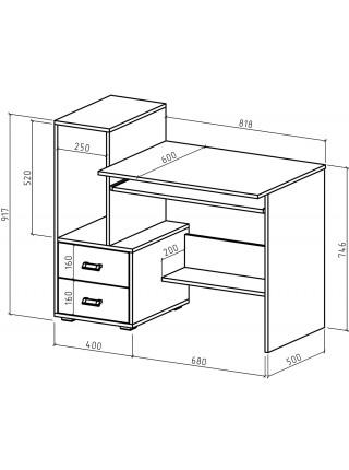 Компьютерный стол Имидж-38