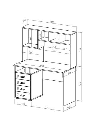 Компьютерный стол Имидж-54